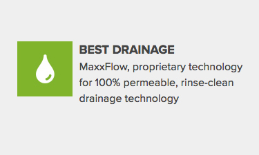 Easy Turf Uses a State-of-the-Art Rinse-Clean Drainage Technology